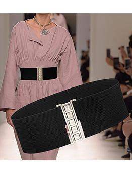 Luxury Stretch Elastic Wide Belts For Women