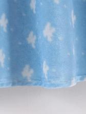 Velour Retro Printed Short Sleeve Midi Dress