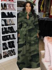 Stylish Loose CamouflageCasual Maxi Dresses