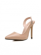 Slingback Buckle Strap Pointed Pumps Shoes