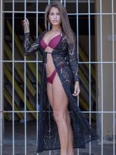 Lace Bikini Women Summer Long Coat