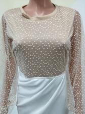 Wholesale Perspective Irregular Patchwork Print Ladies Dress
