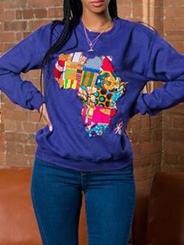 Fashion Printed Long Sleeve Cool Sweatshirts