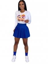 Casual High Waist Short Pleated Skirt