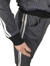 Tiny Squares Printed Hooded 2 Piece Activewear Set