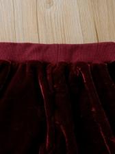 Pleuche Solid Thick Girls Two Piece Pants Set