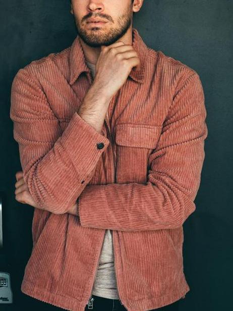 Turndown Neck Pure Color Winter Coats For Men