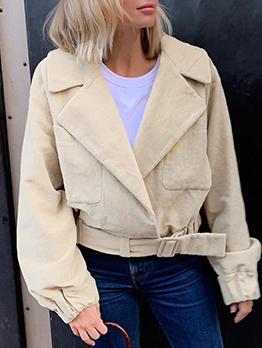 Solid Slim Waist Winter Jackets For Women