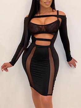 Night Club Cut Out Bodycon Sexy Dress