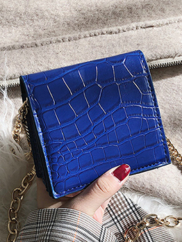 Square Shape Alligator Printed Mini Shoulder Bag