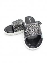 Antiskidding Wear-Resistant Glitter Slip On Slippers