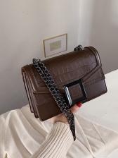 Vintage Plaid Embossed Crossbody Shoulder Bag