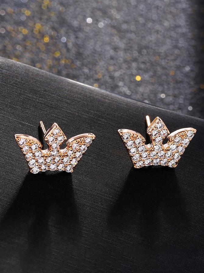 Shinny Crown Studded Fashion Earrings