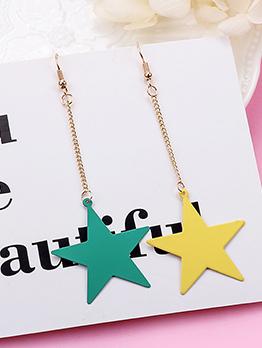 Simple Design Star Earrings For Girls
