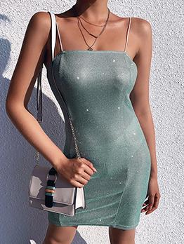 Hot Sale Glitter Fitted Slip Dress