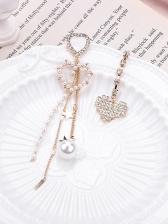 Lone Rhinestone Pear Earrings For Women
