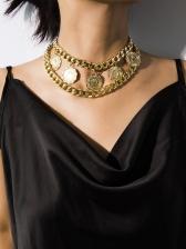 Retro Figure Design Double Layers Necklace