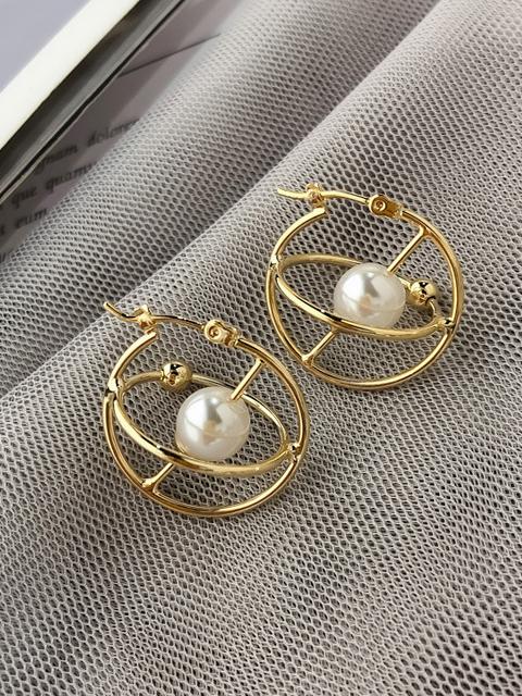 Cute Pearl Planet Earrings For Women