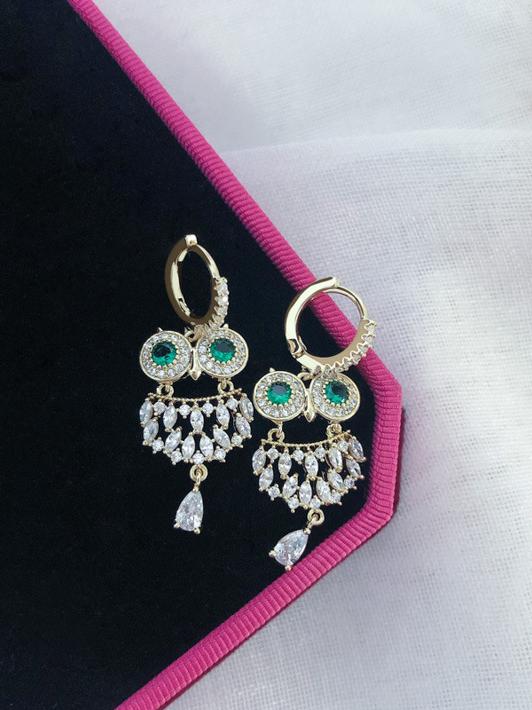 Emerald Owl Vintage Earrings For Women