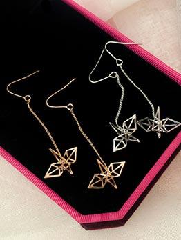 Chic Cranes Pendant Long Earrings