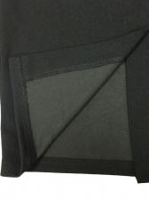 Gauze Patchwork Flare Sleeve Black Dress
