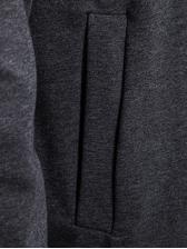 Casual Solid Asymmetric Hem Men Outerwear