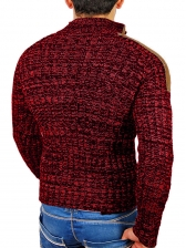 Color Block Knitted Sweaters For Men