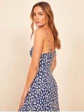 Vocation Polka Dot Split Sleeveless Summer Dresses