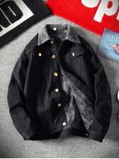 Loose Button Down Men Denim Jacket