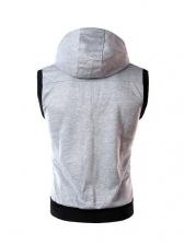 Casual Hooded Sleeveless Men Waistcoat