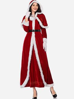 Christmas Cosplay Long Sleeve Maxi Dress