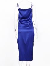 Solid Split Midi Cami Dress