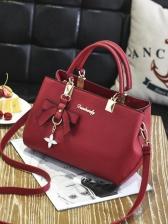 OL Style Solid Bowknot Pendant Crossbody Handbags