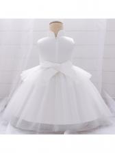 Stand Collar Jacquard Girl Formal Dresses
