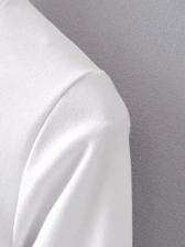Cartoon Print White Long Sleeve Knit T-Shirt
