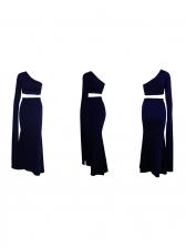One Shoulder Fishtail Crop Top Skirt Set