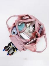 Large Capacity Oxford Solid Color Travel Shoulder Bag