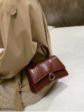 Pure Color Removable Belt Shoulder Bags With Handle