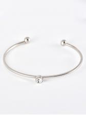 Round Sequin Silvery Bracelet 5 Piece Set