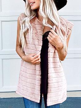 Winter Solid Color Loose Faux Fur Vest Coat