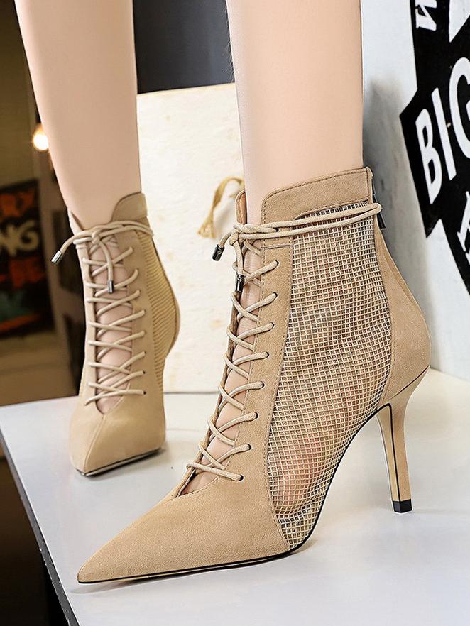 Perspective Front Tie Ladies Boots
