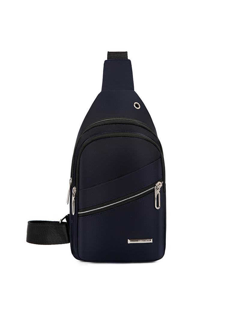Oxford Waterproof Multiple Zipper Men Small Chest Bag