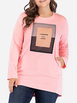 Plus Size Simple Design T Shirt Printing
