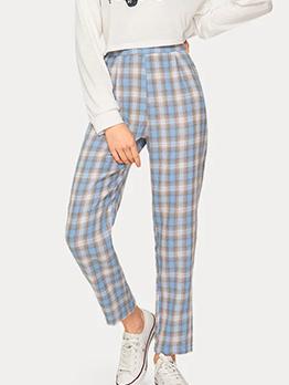 Autumn Fashion Ninth Plaid Pants