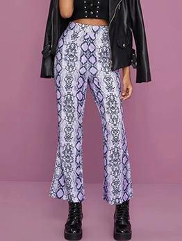 Hip Hop Snake Printed High Waisted Pants