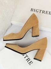 Metal Splicing Toe Rivet Heel High Heel Shoes
