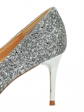 Shinny Sequined Pointed Sexy Shoes