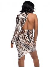Sexy Backless Leopard Bodycon Dress