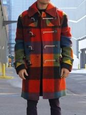 Trendy Color Block Mens Winter Coats