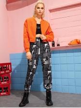 Hip Hop Pure Color Jackets For Women